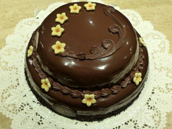 Pasís de xocolata de dos pisos